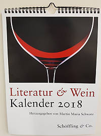 Wandkalender Literatur und Wein