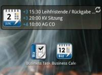 Beispiel Widget Business Cal 4x1
