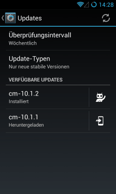 Cyanogen Updates over the air