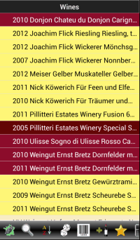 Winetracker Liste Wines