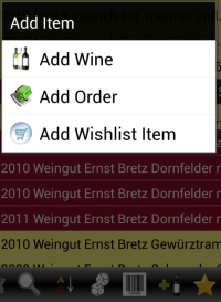 Winetracker - Add Item