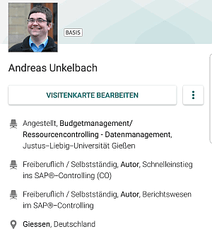 XING Profil Andreas Unkelbach