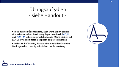 Handout SAP Query Schulung