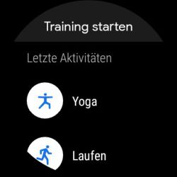 Google Fit Training starten
