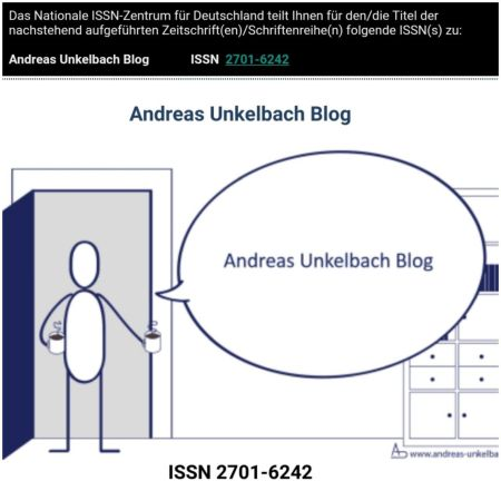 ISSN 2701-6242  Andreas Unkelbach Blog