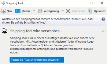 Snipping Tool unter Windows