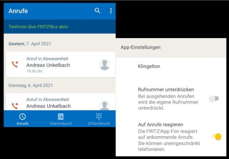 FRITZ!App Fon Beta Version